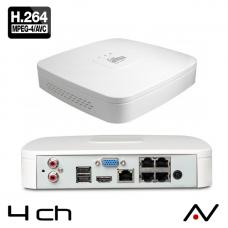 NVR 4 entrées Dahua NVR4104-P-4KS2