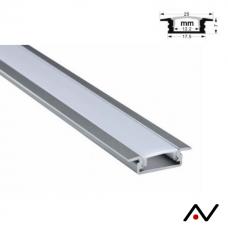 Profil aluminium  petit rebord 100cm