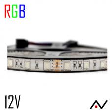 Ruban LED 5050 RGB 60L/M 12V IP20