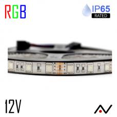 Ruban LED 5050 RGB 60L/M 12V IP65