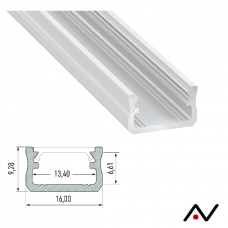 Profilé laqué blanc 2 mètres 16x9.2mm