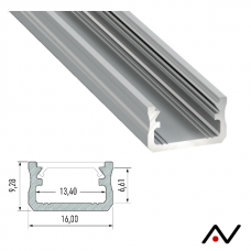 Profilé aluminium 2 mètres 16x9.2mm
