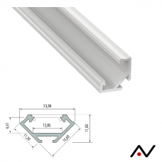 Profilé d'angle laqué blanc 2 mètres 23.3 mm