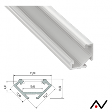 Profilé d'angle aluminium 2 mètres 23.3 mm