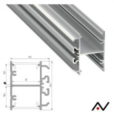 Profilé Dopio aluminium 2 Mètres