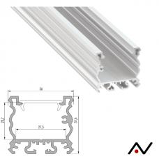 Profilé de surface Talia aluminium 2 mètres