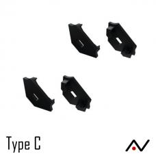 Embout plastique noir type C