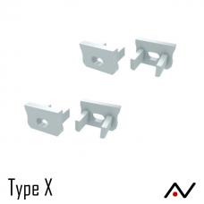 Embout plastique blanc type X