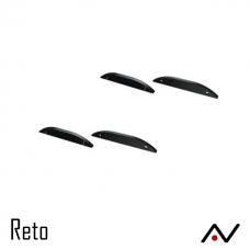 Embout aluminium noir pour Reto