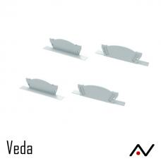 Embout Aluminium blanc Veda