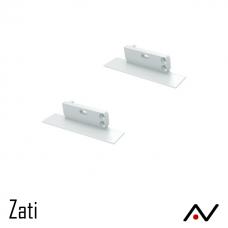 Embout Aluminium gauche blanc Zati
