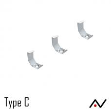 Fixation type C en métal